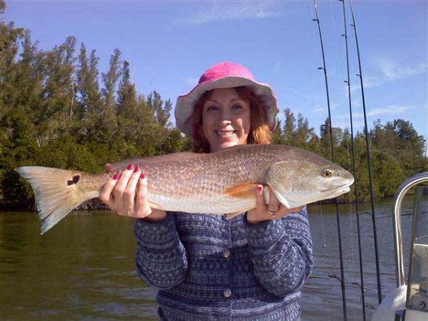 pink hat for redfish