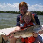 Jenny with 1st Big Redfish