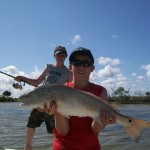 Todd and Ford with Redfish