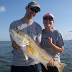 Chad and Janel with 1st Redfish