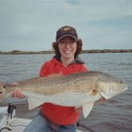Natalie with Big Redfish