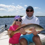 Lainey's first redfish a