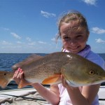 Lilly's first redfish d