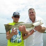 Blake and Steve with Trout